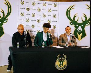Bucks introduce first round pick D.J. Wilson