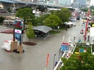 Summerfest starts off soggy this year