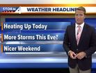 Muggy with highs in the 80s Thursday