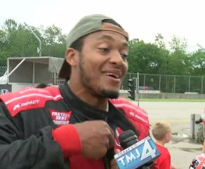 Packers QB Hundley rides with Mario Andretti