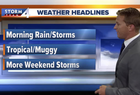 Storms move out Thursday morning