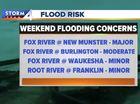 Heavy rain mostly misses flood-damaged areas