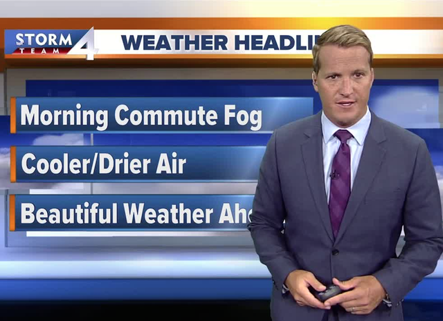 Foggy early, dry stretch of weather ahead