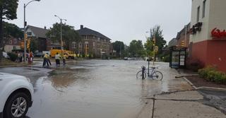 Water main break floods east side MKE streets