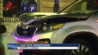 Car strikes pedestrian on Water Street