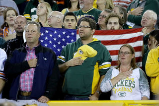Anthem Protests, Patriotism at Lambeau Field