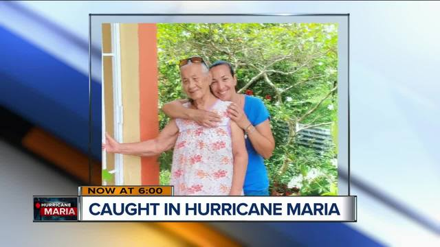 RACINE- A Racine woman who wanted to lay her mother's ashes in Puerto Rico gets caught in Hurricane Maria