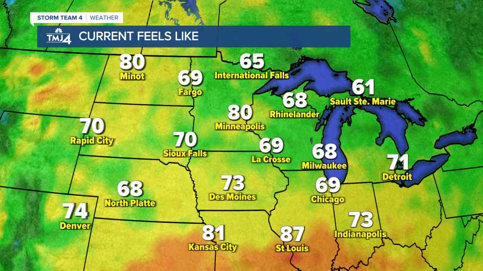 Midwest Feels Like Temperatures