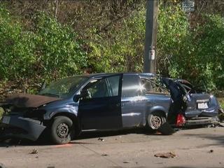 Teen killed in crash with stolen van, police car