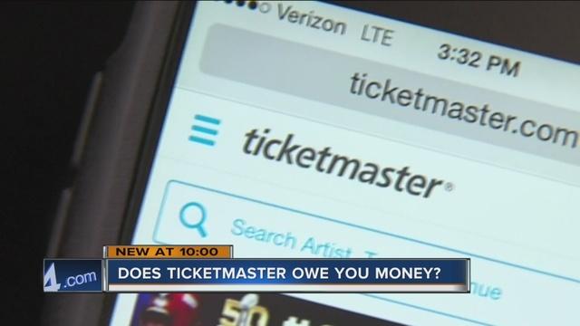 ticketmaster may owe you money