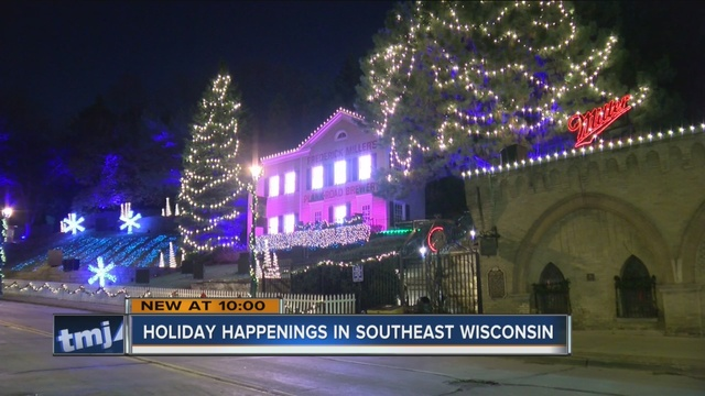 the sights and sounds of the holidays are popping up all over the milwaukee area it has visitors bundling up and heading out to see them