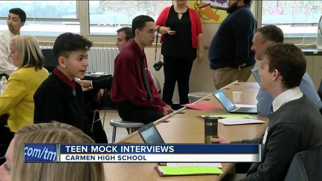 carmen high ninth-graders learn from mock interviews