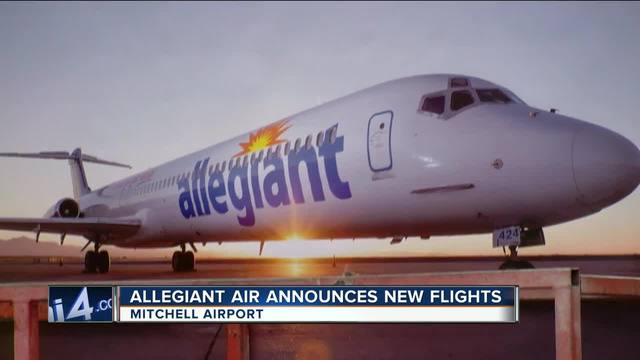 Allegiant Announces New Nonstop Flights From Milwaukee To
