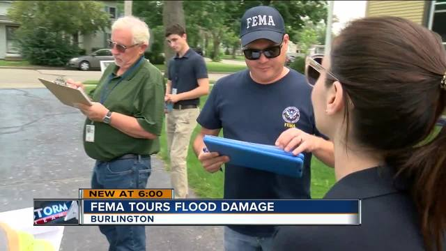 fema tours flooded areas in se wisconsin