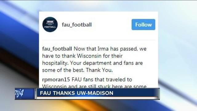 Florida Atlantic University thanks UW-Madison for their hospitality ...
