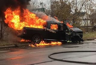 Suspected DUI chase ends in fiery crash