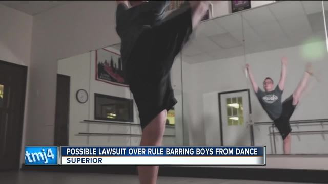 Boy banned from high school dance competition