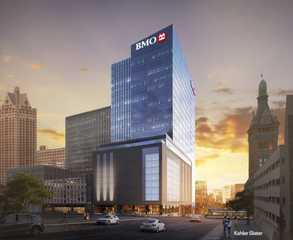 Crews break ground on new BMO Harris Bank tower