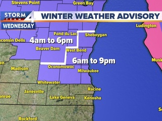 Winter Weather Advisory issued for Wednesday
