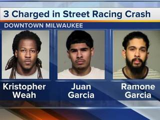 3 men charged for drag race, shooting at MPD