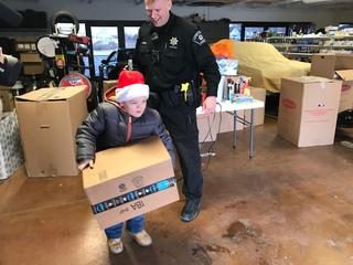 Local boy donates hundreds of toys to hospital