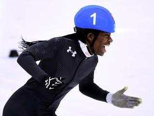 1st black woman makes Olympic speedskating team