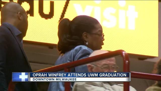 oprah winfrey attends uw-milwaukee graduation ceremony