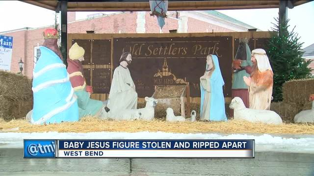 Sheep Steals Baby Jesus-and the Scene-at Church Christmas Pageant
