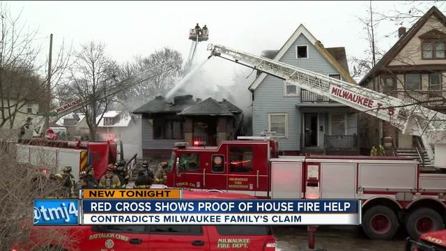 The Red Cross showed proof it paid a family in need of aid who claimed Thursday they did not receive support after their home was destroyed in a fire