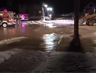 Water main break floods Sheboygan streets