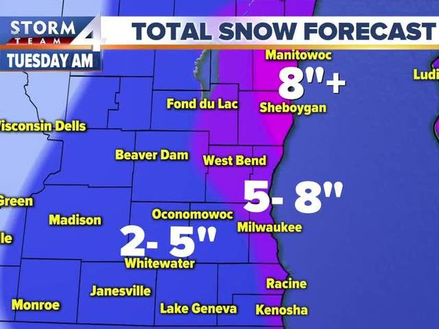 Winter Storm Warning issued for parts of SE Wis.