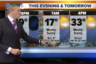 Sunny and windy Wednesday, highs in the 20s