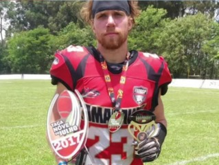 WI football player playing in the pros in Brazil