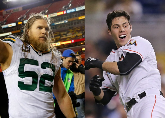 Christian Yelich Bumps Into Clay Matthews At The Gym