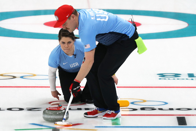 US wins first mixed doubles curling game