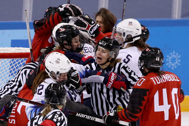 USA, Norway, Finns, Germans Advance To Olympic Hockey Quarter-finals