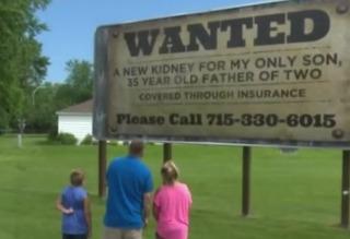 Stranger donates kidney after seeing billboard