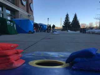 PHOTOS: Brewers fans camp out at Arctic Tailgate