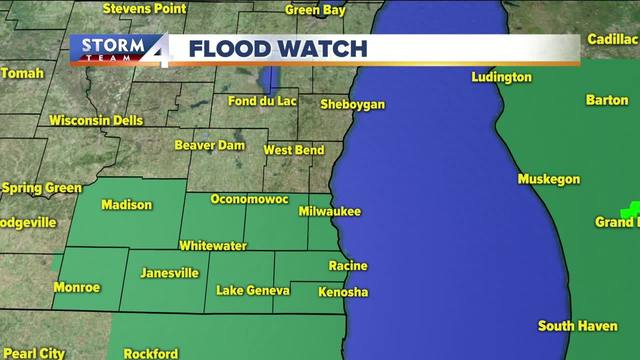 Flash Flood Watch issued for parts of SE Wis.