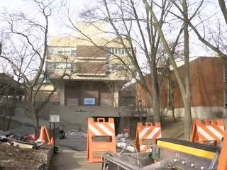 Stolen car chase ends outside UWM Union