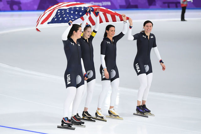 Heather Richardson Bergsma, US win bronze medal in speedskating team pursuit