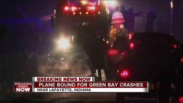Plane bound for Green Bay crashes in Indiana
