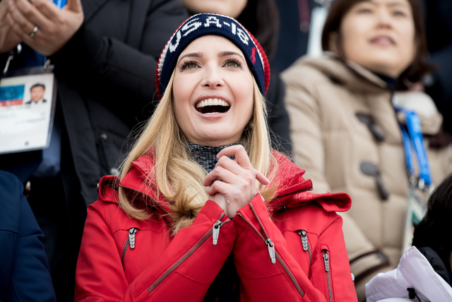 Ivanka Trump cheers on United States in Big Air competition