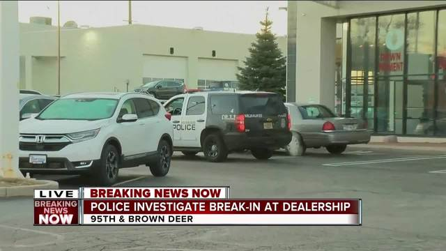 Milwaukee Police Investigating Overnight Break In At Russ Darrow Car  Dealership