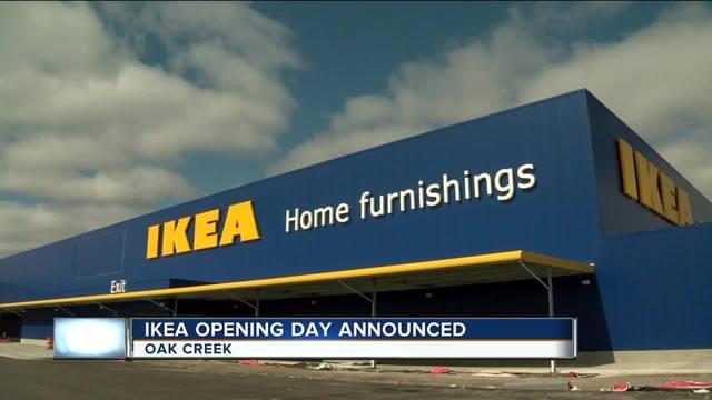 city of oak creek prepares for ikea opening tmj4 milwaukee wi. Black Bedroom Furniture Sets. Home Design Ideas