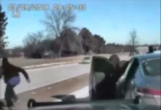 Gas station customer initiates police chase