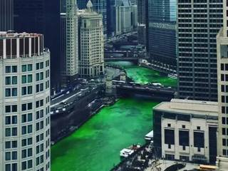 Chicago River dyed green [VIDEO]