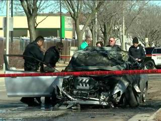 1 dead after fiery crash on MKE north side