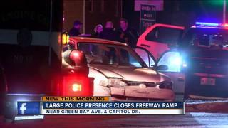 Large police presence closes I43 ramp
