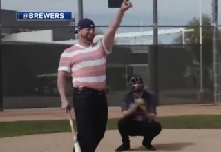 Brewers give post-game notes on Sandlot spoof